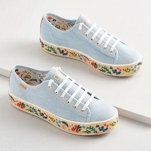 Rosalie Embroidered Jute Triple Sneaker by Keds